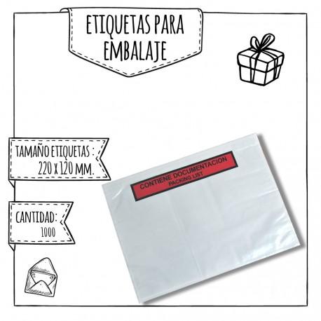 SOBRES CON ETIQUETAS PARA EMBALAJE – 220 X 120