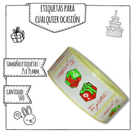 "ETIQUETA ""TE GUSTARÁ"" – 75 X 35 MM"