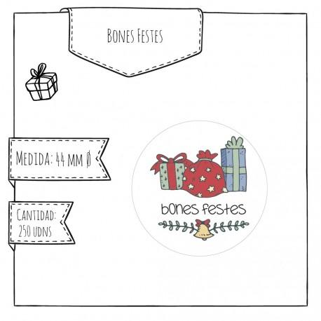 Etiqueta Felices Fiestas Regalos