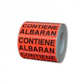 """ETIQUETAS """"CONTIENE ALBARÁN"""" – 95 X 38"""