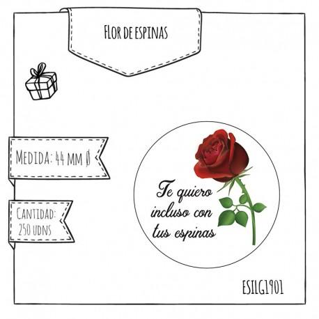 """ETIQUETA """"FLOR Y ESPINAS"""""""