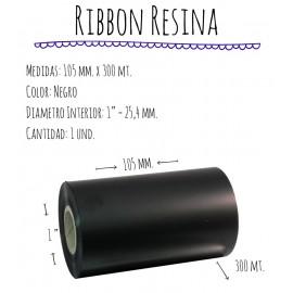 ROLLO RIBBON 105x300 NEGRO RESINA