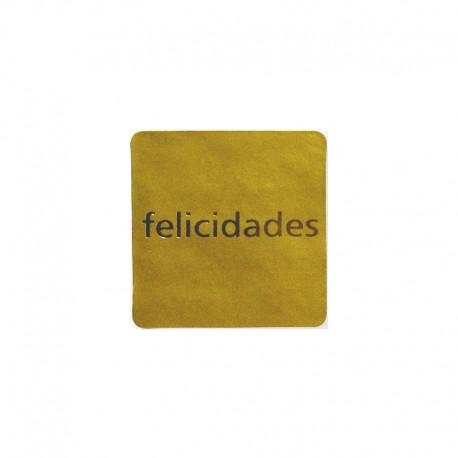 Etiqueta Felicidades Oro