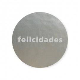 Etiqueta Felicidades plata