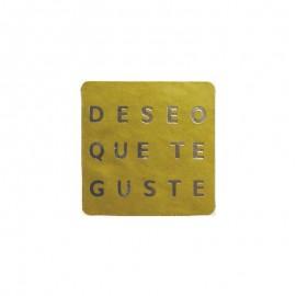 """Etiqueta oro""""deseo que te guste"""""""