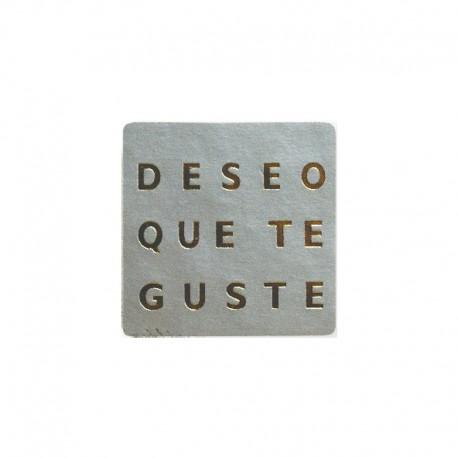 "Etiqueta plata ""deseo que te guste"""