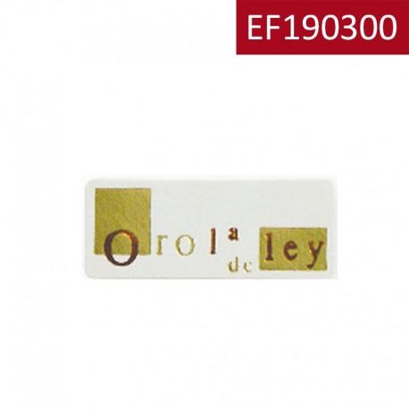 "Etiqueta Oro""1ªLey"""