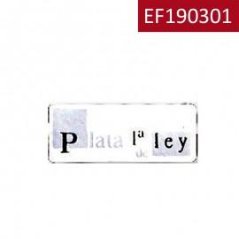 "Etiqueta Plata ""1ªLey"""