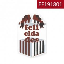 "Etiqueta ""Caja Felicidad"""