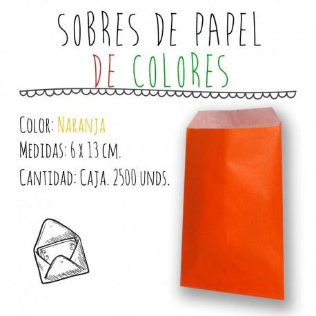 SOBRES DE PAPEL DE COLORES