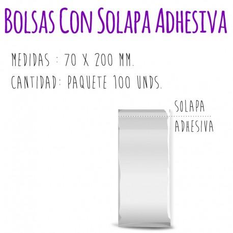 SOBRES/BOLSAS TRANSPARENTES (Con Solapa Adhesiva)