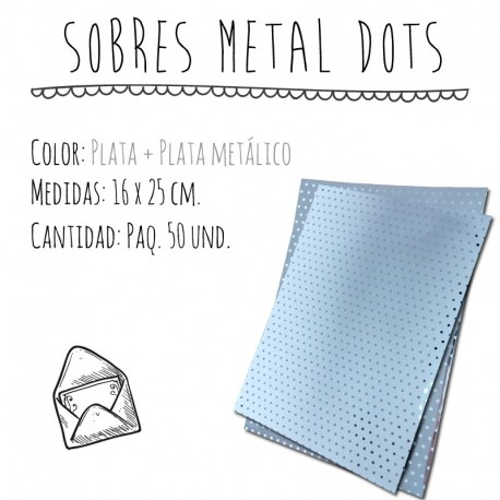SOBRES METAL DOTS